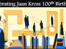 Google doodle Celebrates Jaan Kross' 100th Birthday